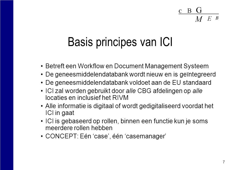 Basis principes van ICI