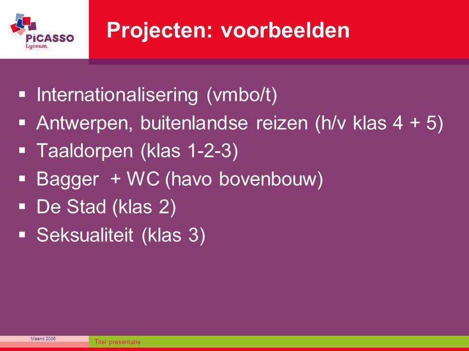 Projecten: voorbeelden