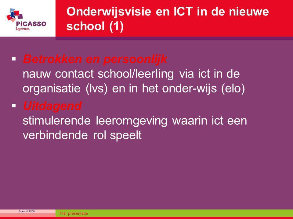 Onderwijsvisie en ICT in de nieuwe school (1)