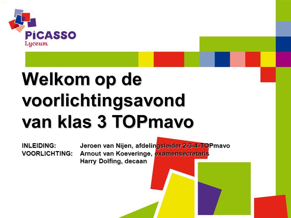 Welkom op de voorlichtingsavond van klas 3 TOPmavo