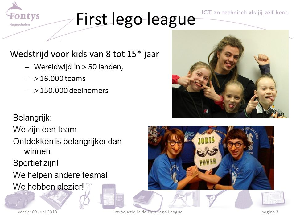 Introductie in de First Lego League