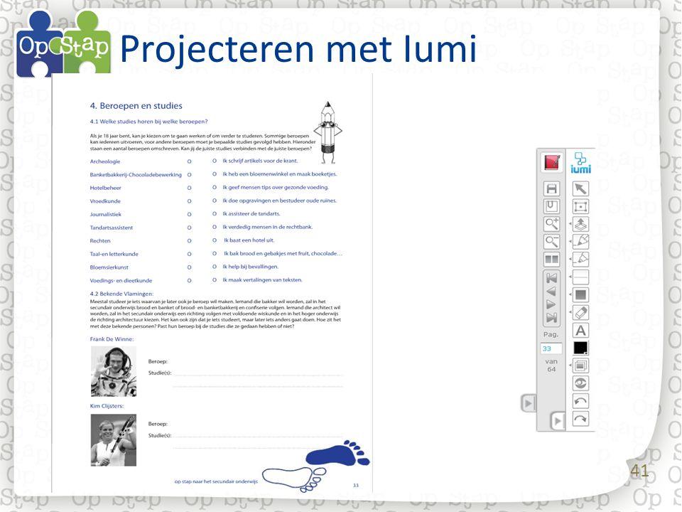 Projecteren met Iumi