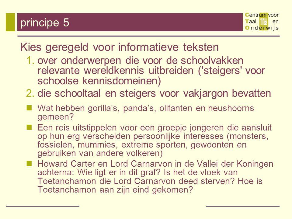 Kies geregeld voor informatieve teksten