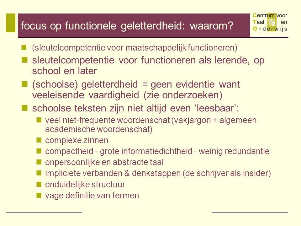 focus op functionele geletterdheid: waarom