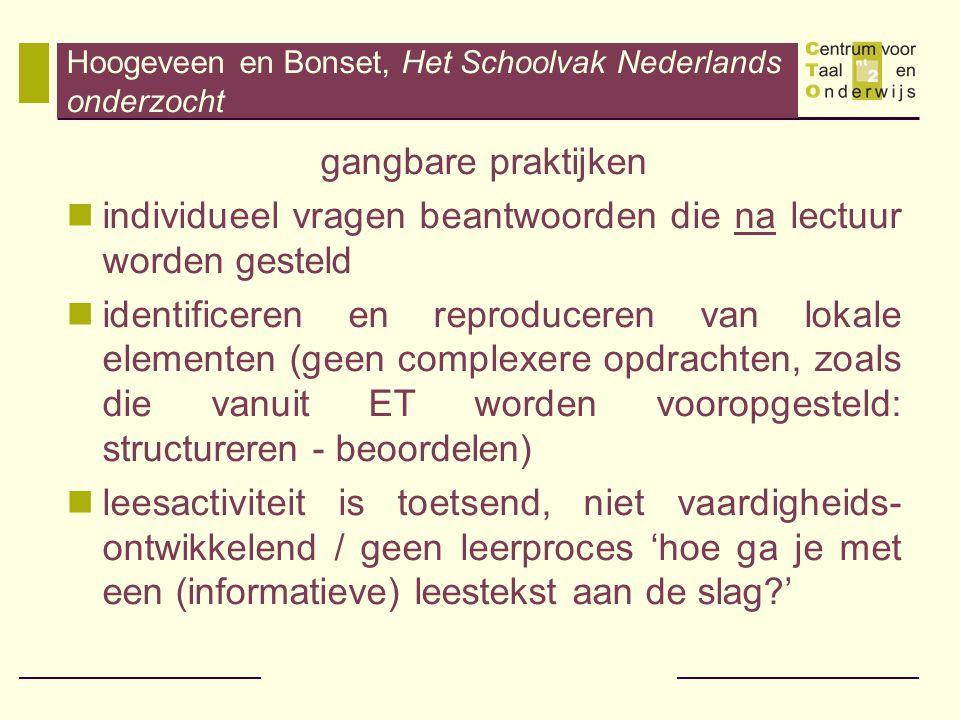 Hoogeveen en Bonset, Het Schoolvak Nederlands onderzocht