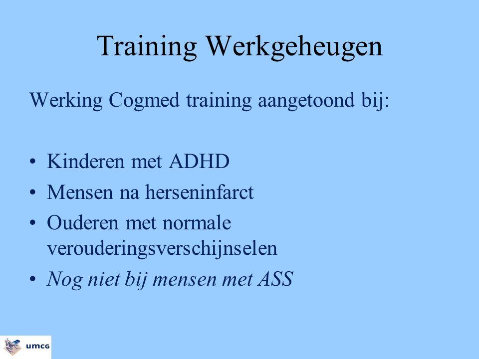 Training Werkgeheugen