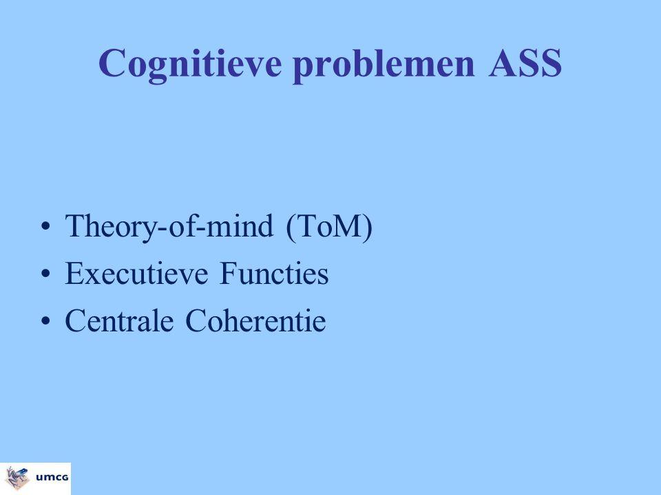 Cognitieve problemen ASS