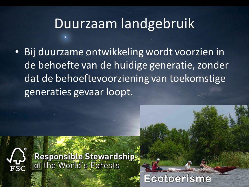 Duurzaam landgebruik