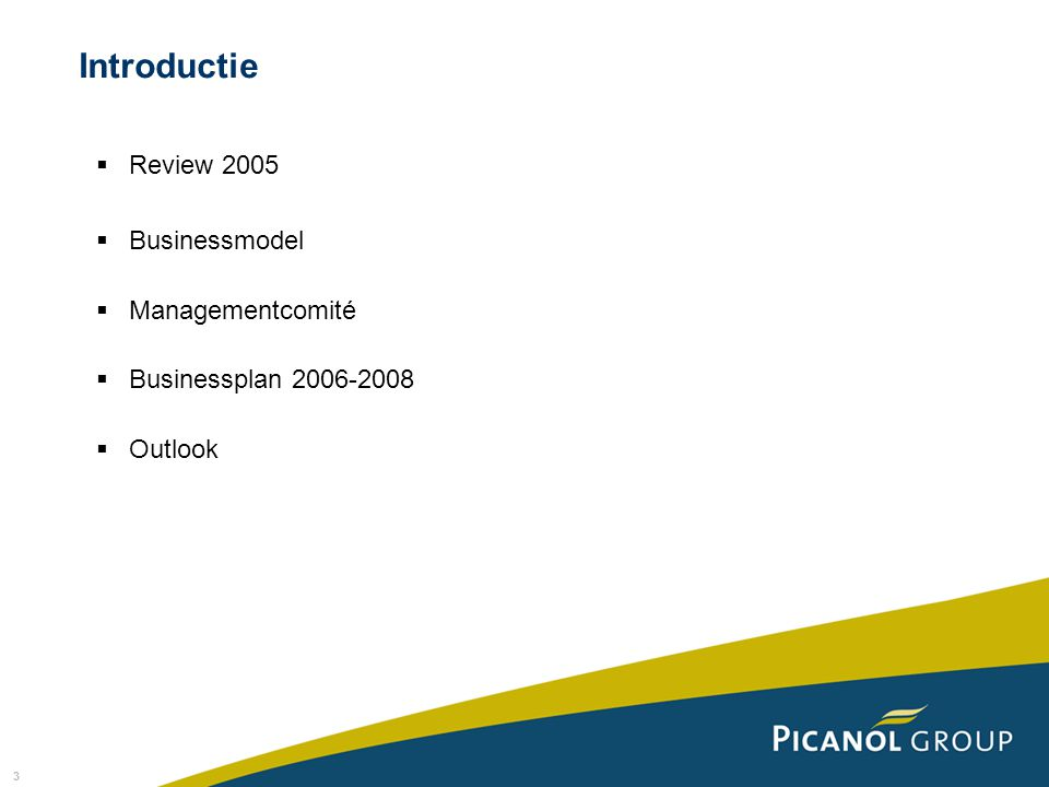 Introductie Review 2005 Businessmodel Managementcomité