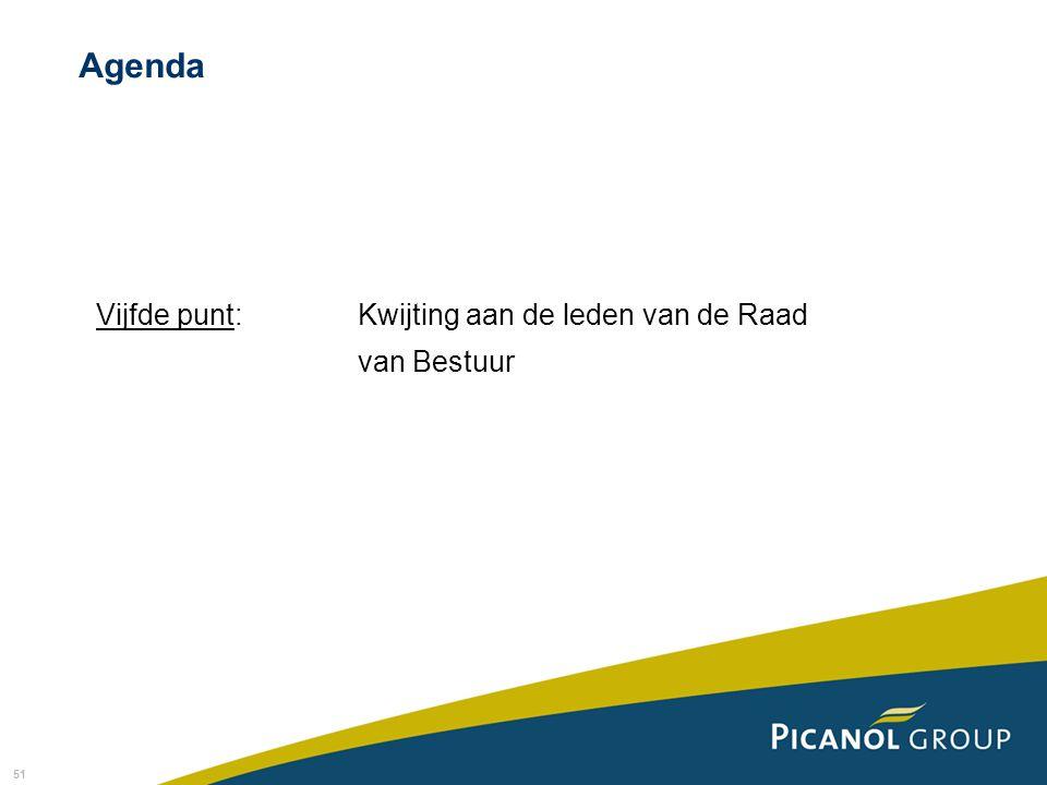 Agenda Vijfde punt: Kwijting aan de leden van de Raad van Bestuur