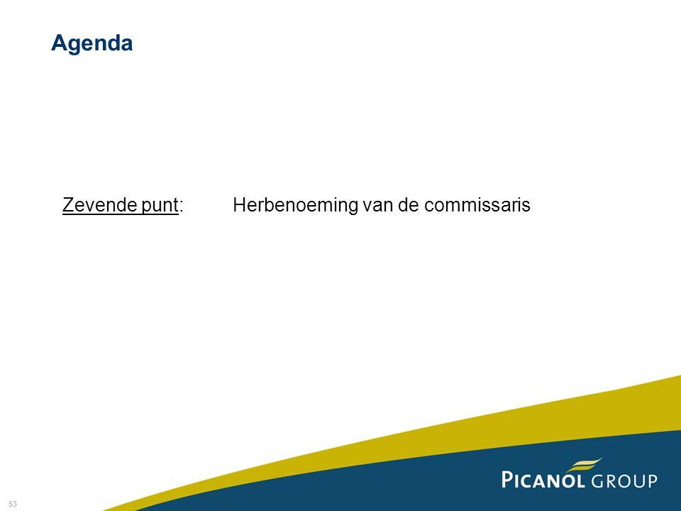 Agenda Zevende punt: Herbenoeming van de commissaris