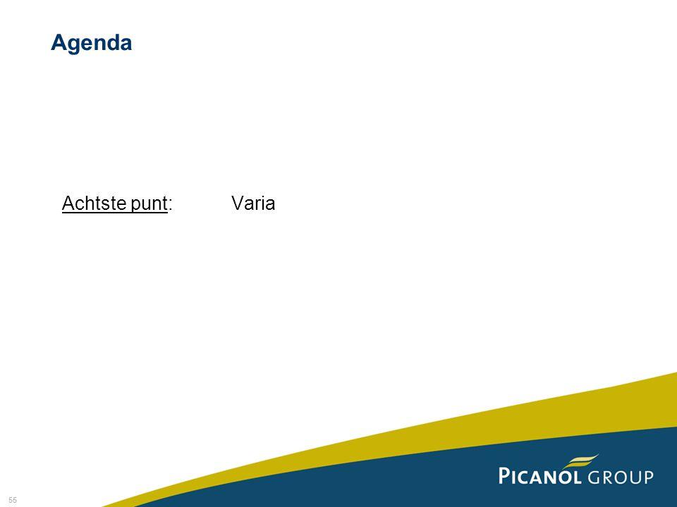 Agenda Achtste punt: Varia