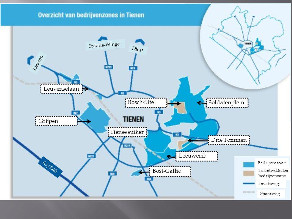 Leuvenselaan Bosch-Site Soldatenplein Grijpen Tiense suiker