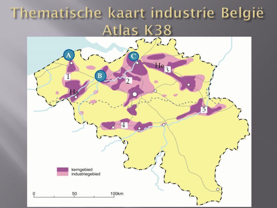Thematische kaart industrie België Atlas K38