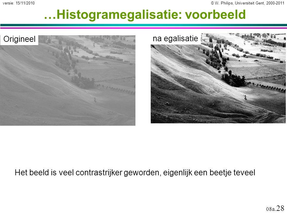 …Histogramegalisatie: voorbeeld