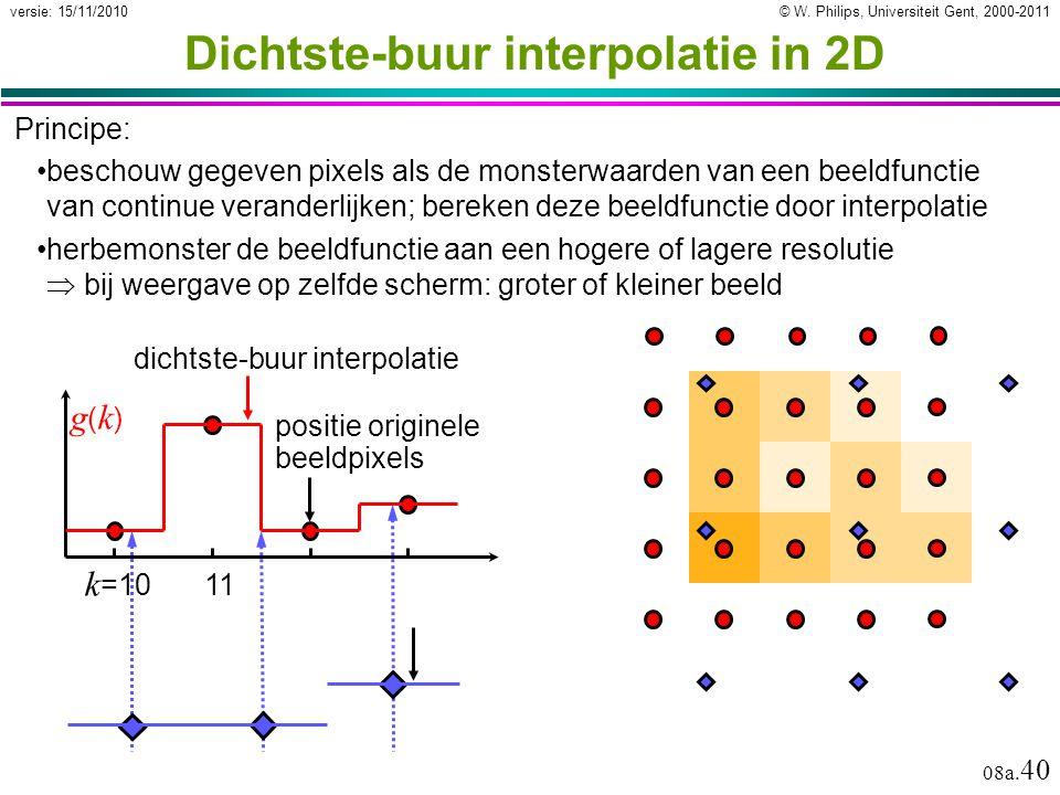 Dichtste-buur interpolatie in 2D