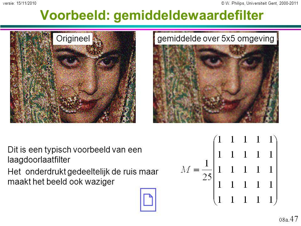 Voorbeeld: gemiddeldewaardefilter