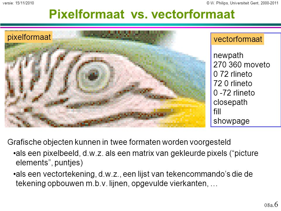 Pixelformaat vs. vectorformaat