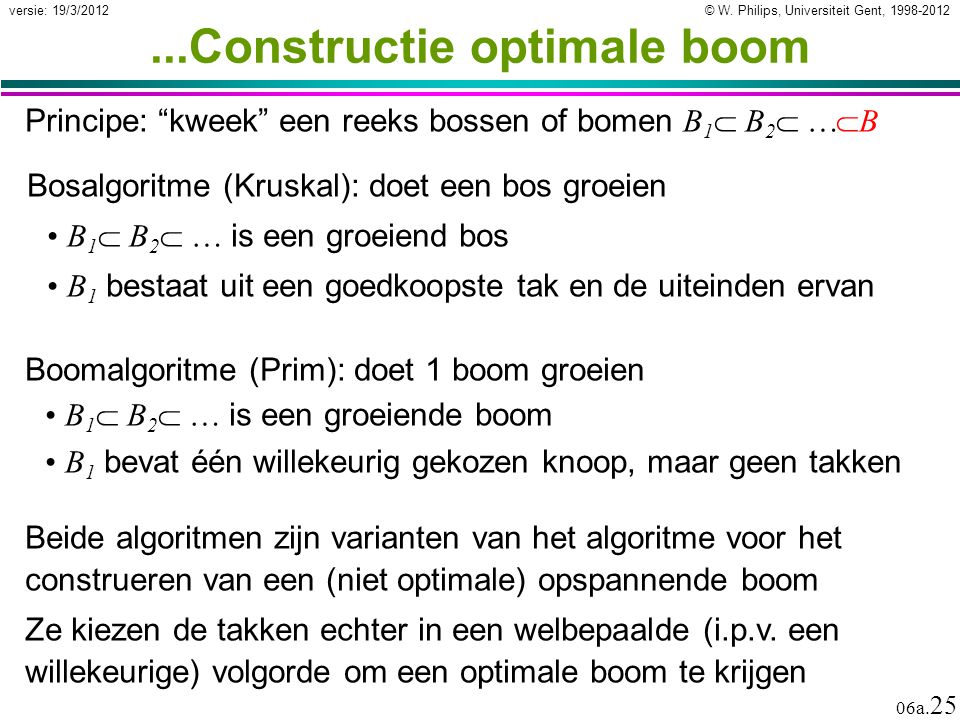 ...Constructie optimale boom