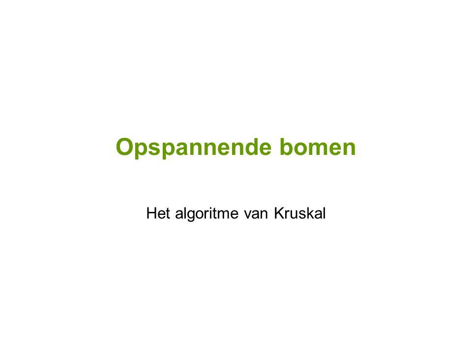 Het algoritme van Kruskal