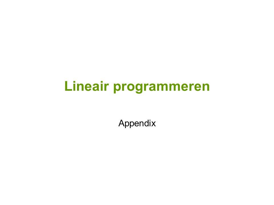Lineair programmeren Appendix