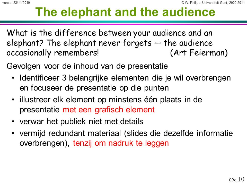 The elephant and the audience