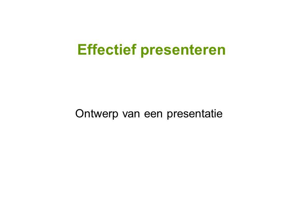 Ontwerp van een presentatie
