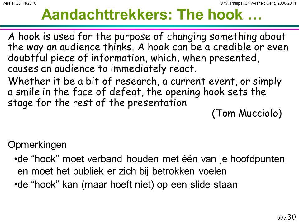 Aandachttrekkers: The hook …