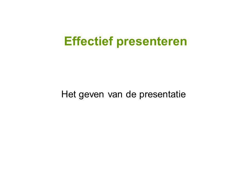 Het geven van de presentatie