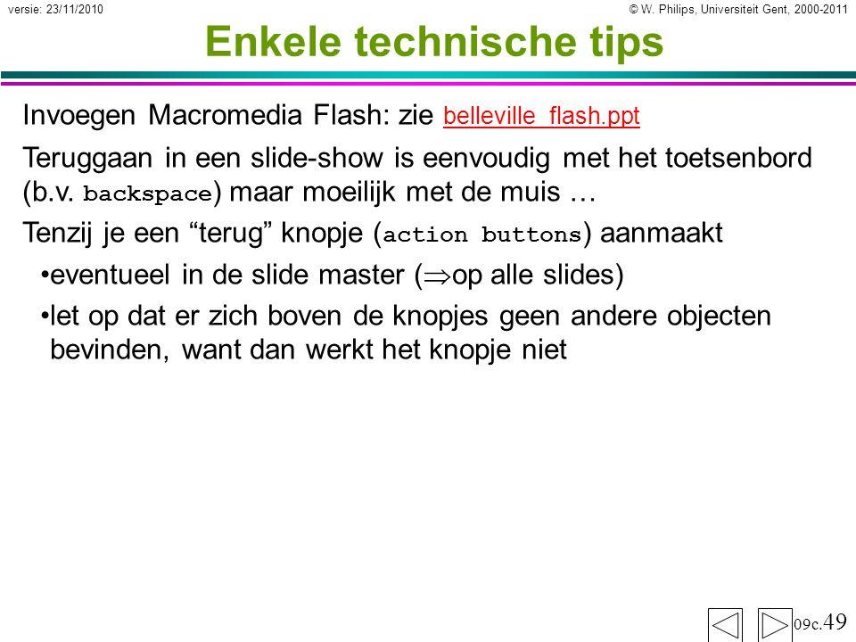 Enkele technische tips