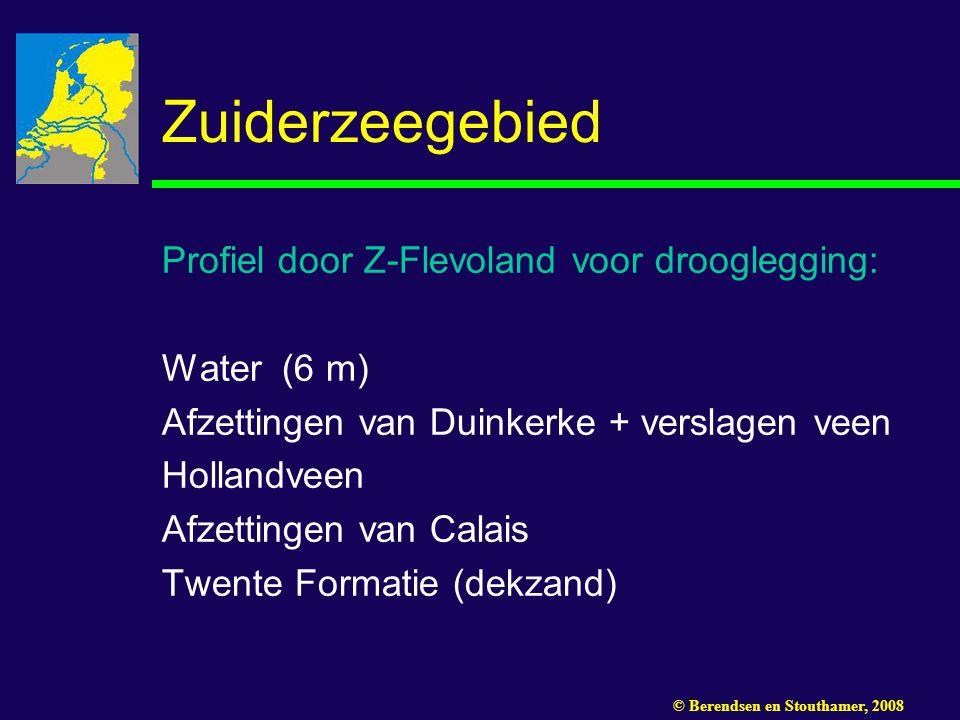Zuiderzeegebied Profiel door Z-Flevoland voor drooglegging:
