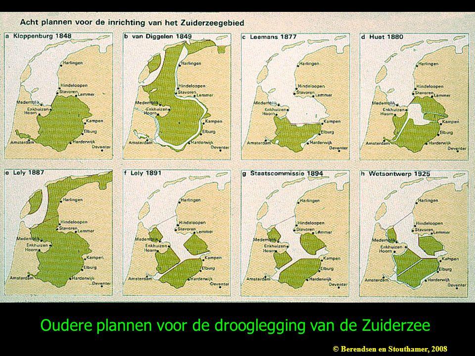 Oudere plannen voor de drooglegging van de Zuiderzee
