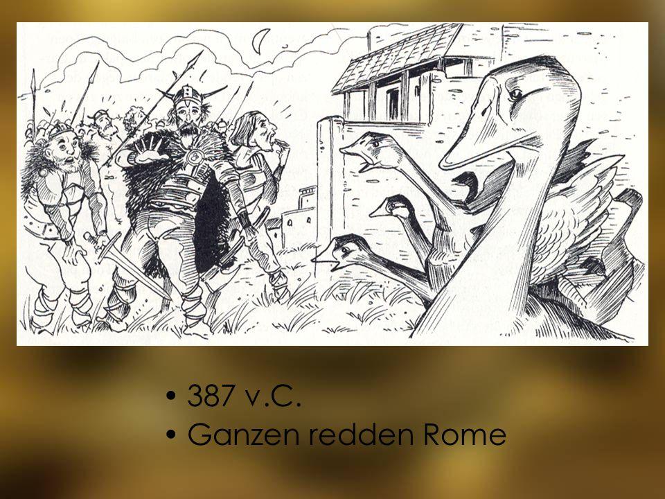 387 v.C. Ganzen redden Rome