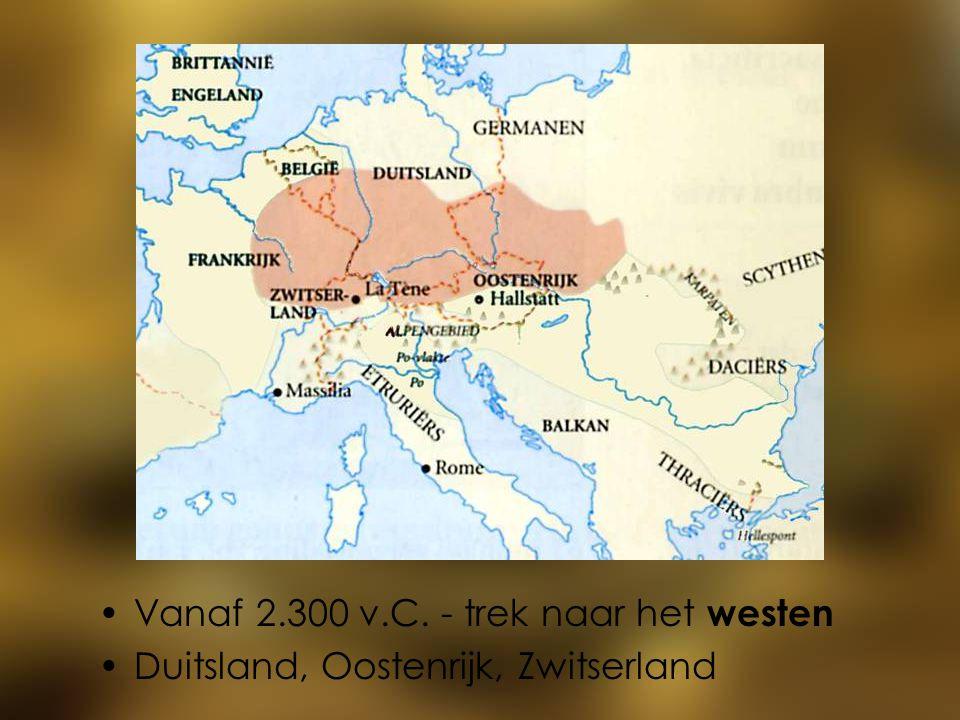 Vanaf 2.300 v.C. - trek naar het westen