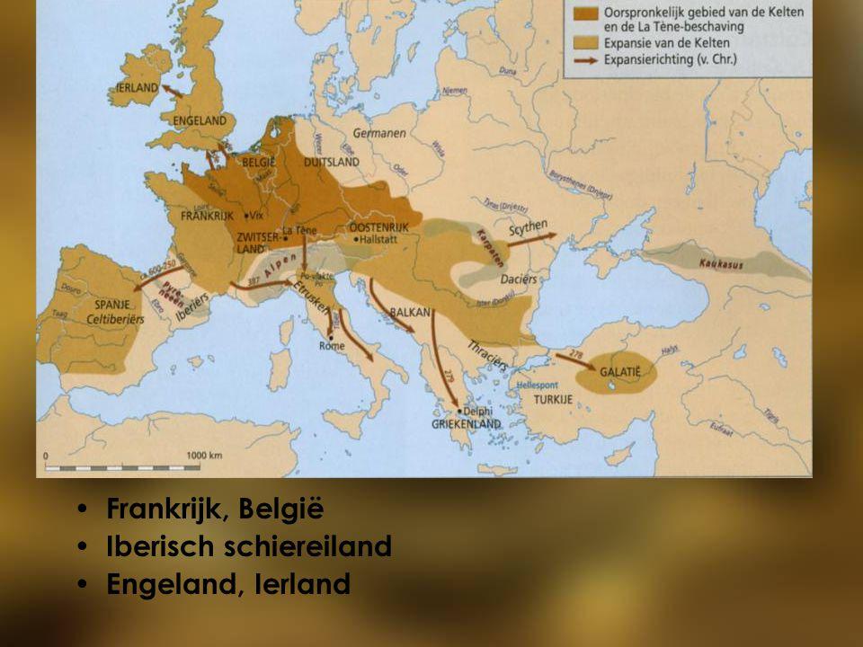 Frankrijk, België Iberisch schiereiland Engeland, Ierland