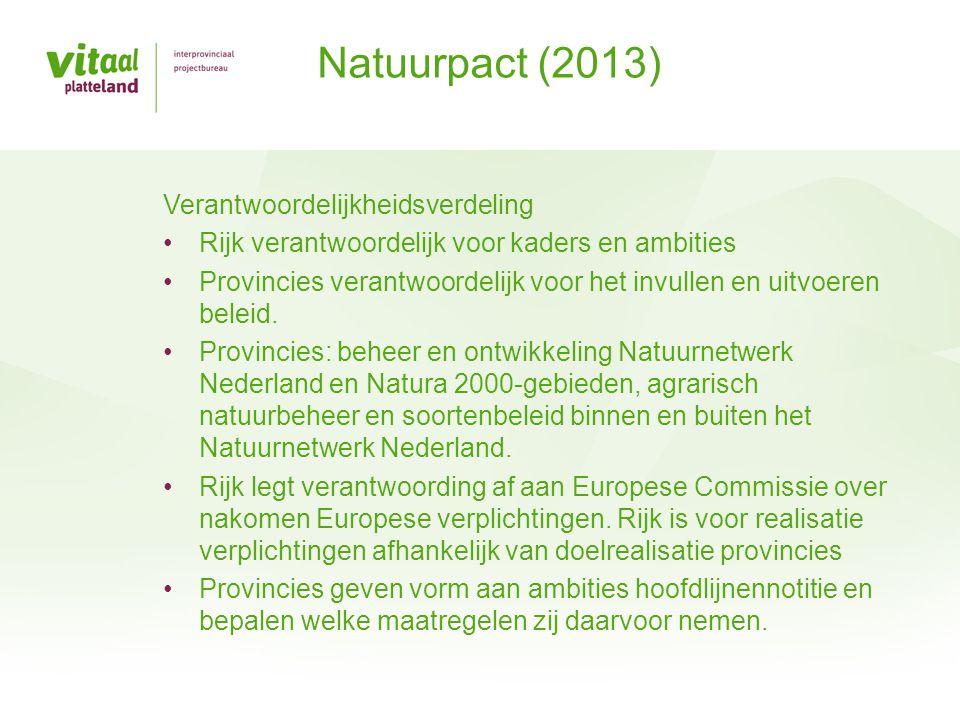 Natuurpact (2013) Verantwoordelijkheidsverdeling