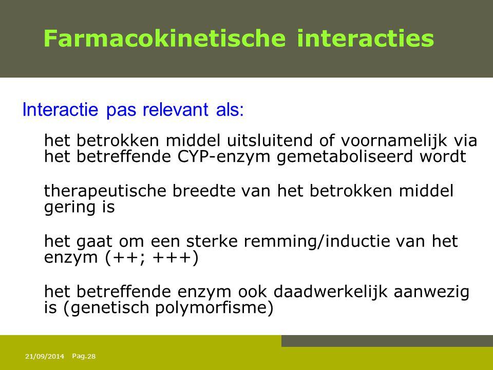 Farmacokinetische interacties