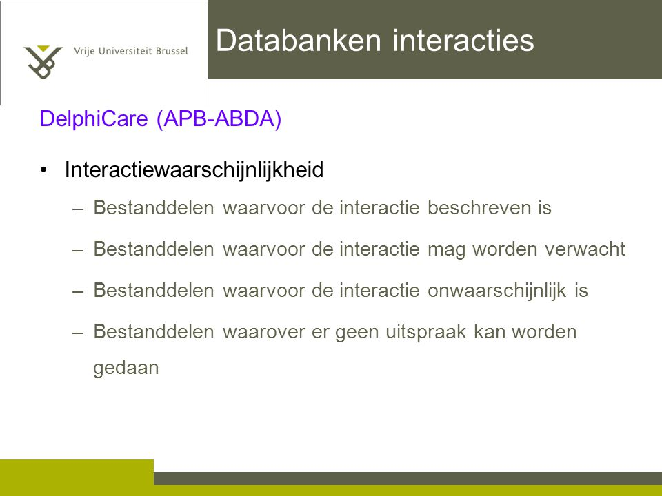 Databanken interacties