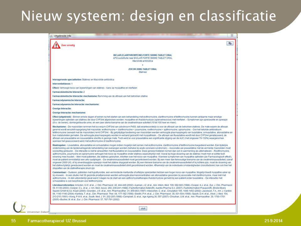 Nieuw systeem: design en classificatie