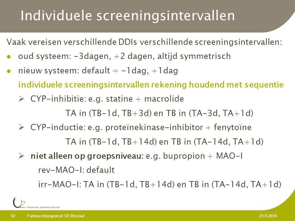 Individuele screeningsintervallen
