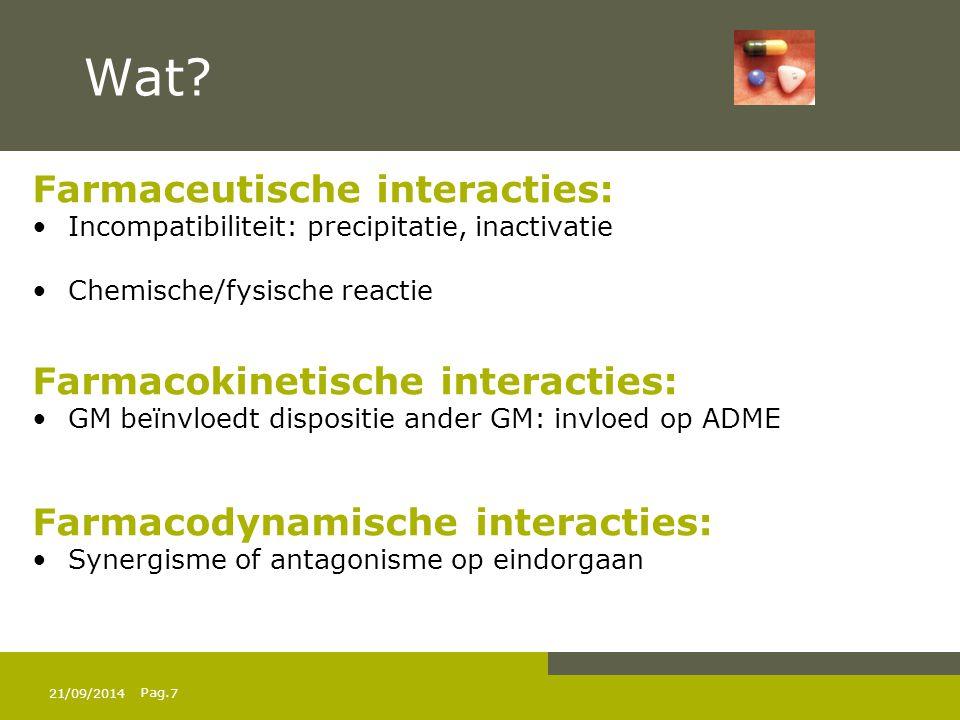 Wat Farmaceutische interacties: Farmacokinetische interacties: