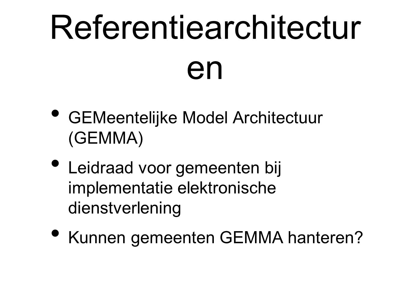 Referentiearchitecturen