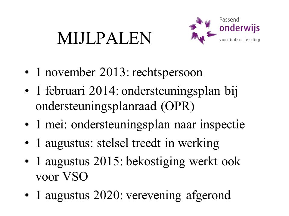 MIJLPALEN 1 november 2013: rechtspersoon