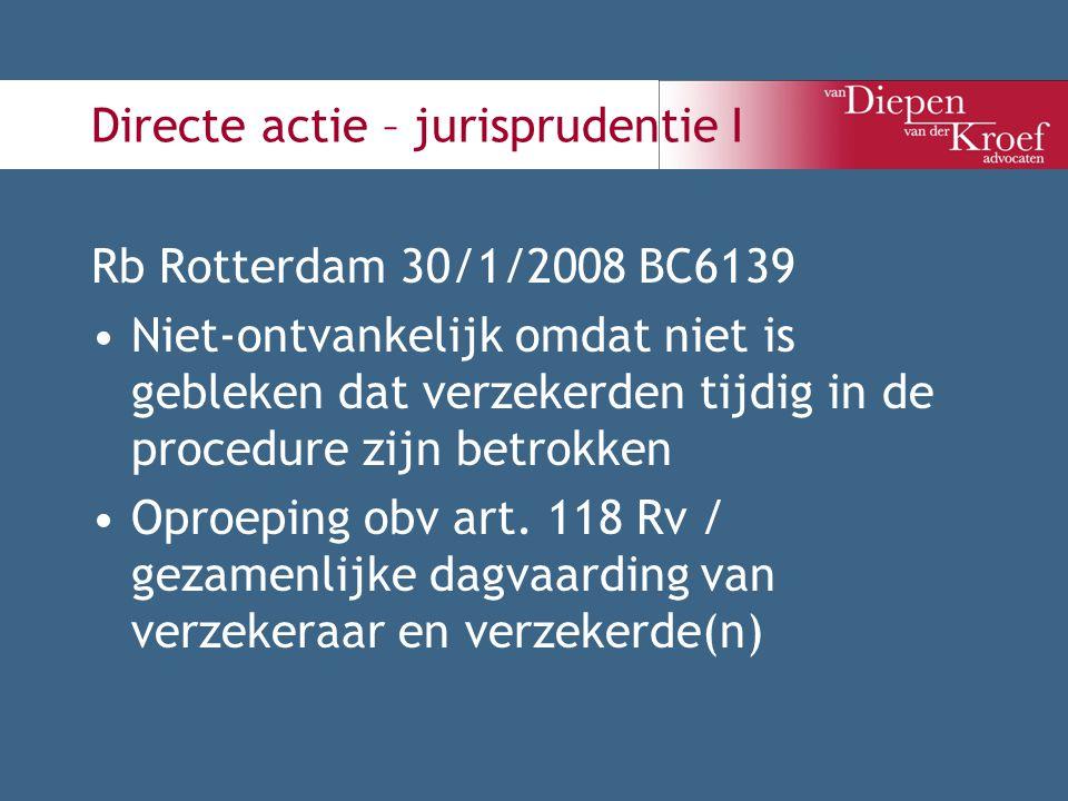 Directe actie – jurisprudentie I