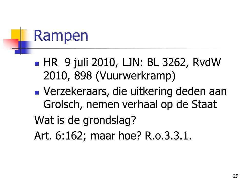Rampen HR 9 juli 2010, LJN: BL 3262, RvdW 2010, 898 (Vuurwerkramp)