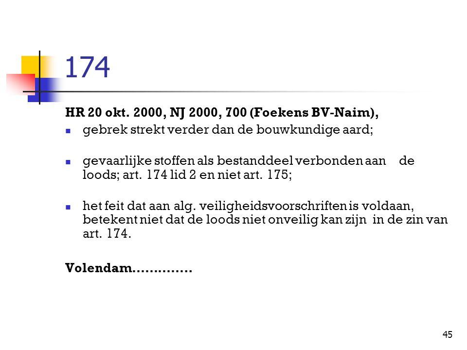 174 HR 20 okt. 2000, NJ 2000, 700 (Foekens BV-Naim),