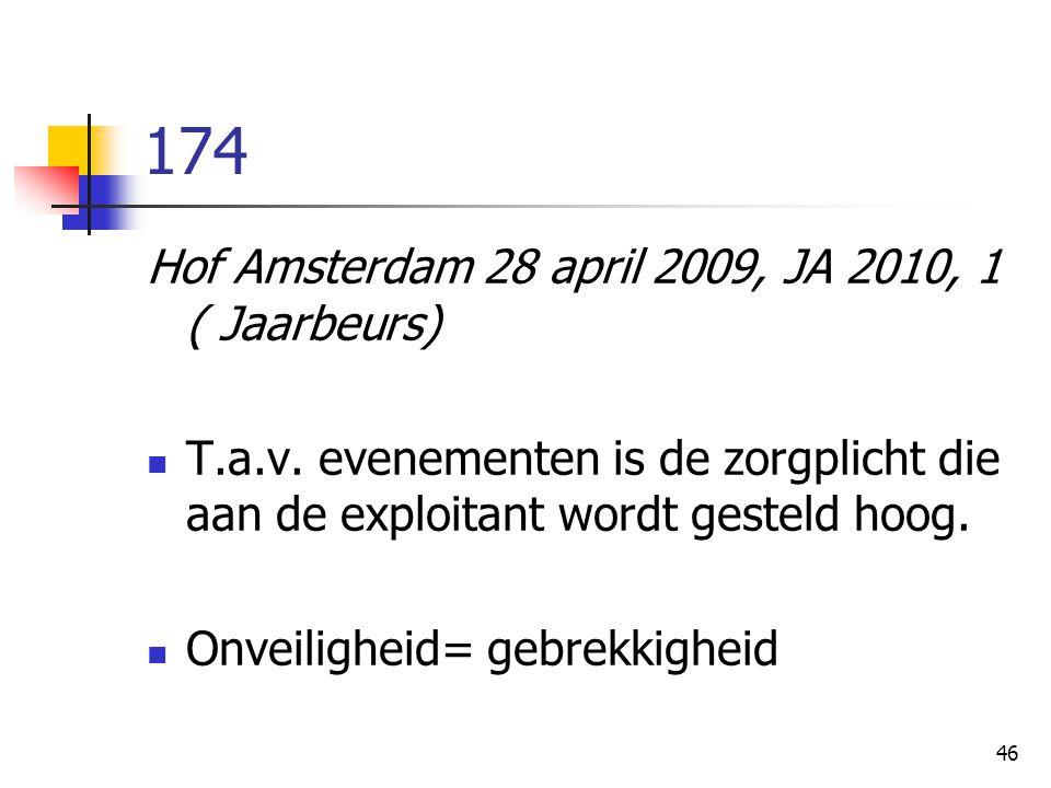 174 Hof Amsterdam 28 april 2009, JA 2010, 1 ( Jaarbeurs)