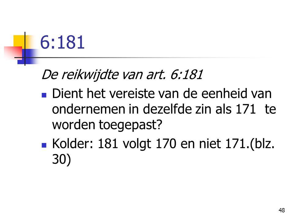 6:181 De reikwijdte van art. 6:181