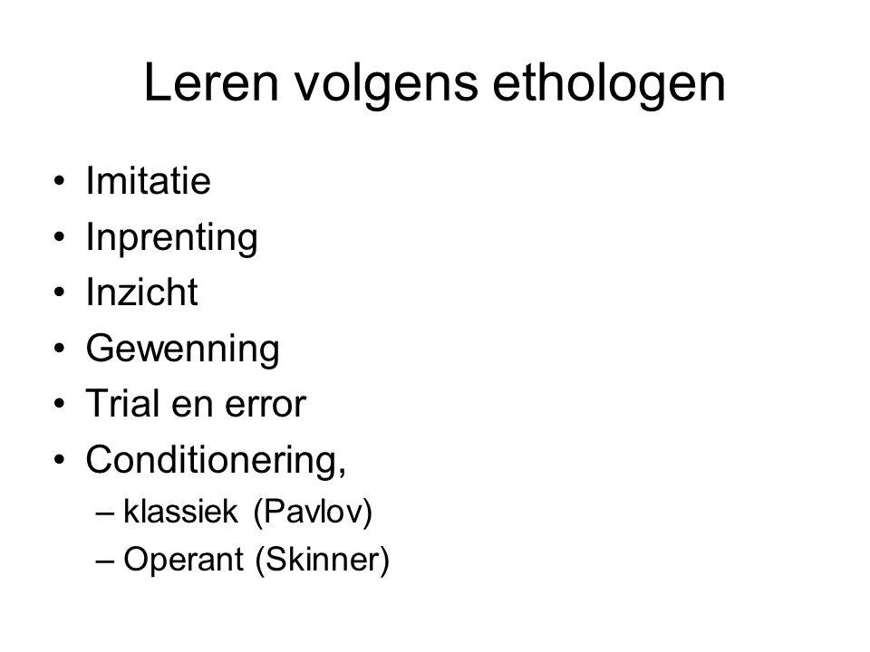 Leren volgens ethologen