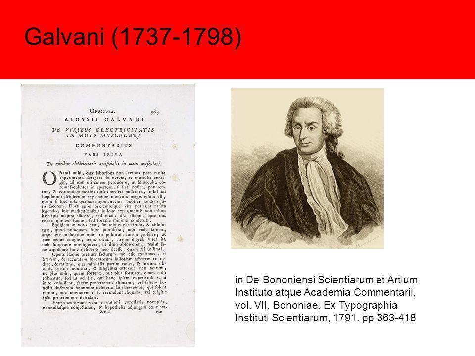 Galvani (1737-1798)